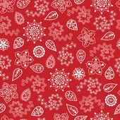 цветочные бесшовные снежинки фон для зима и рождество t — Cтоковый вектор
