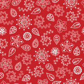 冬やクリスマスの t の花のシームレスな雪片背景 — ストックベクタ