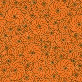 Naadloze achtergrond halloween met pompoen — Stockvector