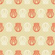 Retro seamless owl pattern - Stock Vector