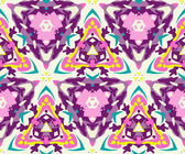 Abstract background seamless kaleidoscope pattern — Stock Vector