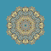 Dekorative runde paisley — Stockvektor