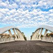 Stock Photo: Modern Bridge against Nicely Cloudy Sky