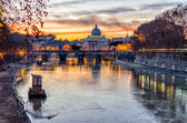 Sunset over the Vatican City — Stock Photo
