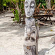 Stock Photo: Tropical Wood Statue