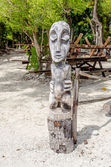 Tropical Wood Statue — Stock Photo