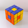 Creatively Solved Rubiks Cube — Stock Photo