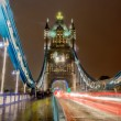 Tower Bridge at Night, London, UK — Foto de Stock