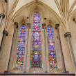 Stock Photo: Stained-glass windows at Temple Church, London, UK
