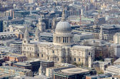 Aerial View of St Paul Cathedral, London, UK — Stock Photo