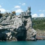 Swallow's Nest, Scenic Castle over the Black Sea, Yalta, Crimea, — Stock Photo #25099011