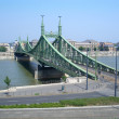 Indipendence Bridge over the Danube River, Budapest, Hungary — Stock Photo