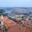 Panoramic view of Prague and city bridges, Czech Republic — Stock Photo #25168503