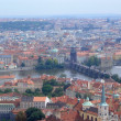 Panoramic view of Prague and city bridges, Czech Republic — Stock Photo