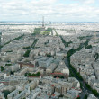 Panoramic View of Paris from Tour Montparnasse — Stock Photo