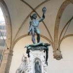 Постер, плакат: The traditional David and Goliath Statue Florence Italy