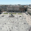 Aerial view of Piazza del Duomo, Milan Cathedral, Italy — Stock Photo #25169253