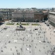 Aerial view of Piazza del Duomo, Milan Cathedral, Italy — Stock Photo
