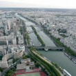 Panoramic View of Paris from Tour Eiffel, France — Foto Stock