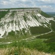 Panorama of the caves, Chufut-Kale, Crimea, Ukraine - Stock Photo