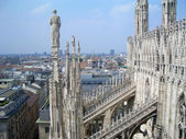 View from the top of Milan Cathedral, Italy — Stock Photo