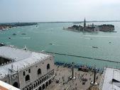 Vista sobre a lagoa de veneza, itália — Fotografia Stock