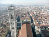 Aerial View of Florence from Brunelleschi Campanile, Italy — Stock Photo