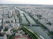 Panoramic View of Paris from Tour Eiffel, France — Stock Photo