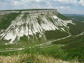 Panorama of the caves, Chufut-Kale, Crimea, Ukraine — Stock Photo