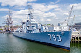 Uss κασέν νέους πολεμικό πλοίο στο λιμάνι της βοστώνης — Φωτογραφία Αρχείου