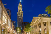 Custom House Tower and Quincy Market at night, Boston, USA — Stock Photo