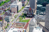 Aerial View of Copley Square, Boston — Stock Photo