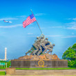 Marine Corps War Memorial (Iwo Jima Memorial) — Stock Photo #28179583