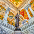 Library of Congress Main Hall Washington DC — Stock Photo