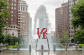 Love Statue in Philadelphia — Stock Photo
