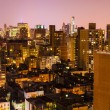 Aerial View at Night, New York City — Stock Photo #30185649