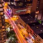 Aerial View at Night, New York City — Stock Photo