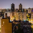 Aerial View at Night, New York City — Stock Photo #30187947