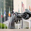 Non Violence Sculpture at UN — ストック写真