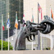 Non Violence Sculpture at UN — Foto de Stock