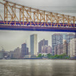 Stock Photo: Queensboro Bridge and UN Headquarters, Manhattan