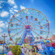 Wonder Wheel in Coney Island, New York — Stock Photo