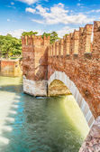 Scaliger Bridge (Castelvecchio Bridge) in Verona, Italy — Stock Photo