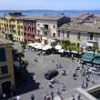 Aerial View of Sirmione from the Scaliger Castle, Italy — Stock Photo