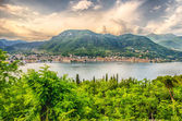 Panoramic View over the Town of Salo, on the Lake Garda, Italy — Foto Stock