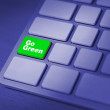 Go green keyboard key — Stock Photo