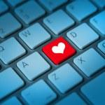 Heart shaped keyboard key — Stock Photo #35813173