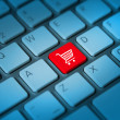 Shopping cart keyboard key — Stockfoto