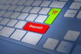 Deposit keyboard key — Stock Photo