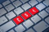 Money currency keyboard keys — Stock Photo
